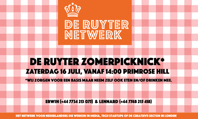 De Ruyter Picknick invitation
